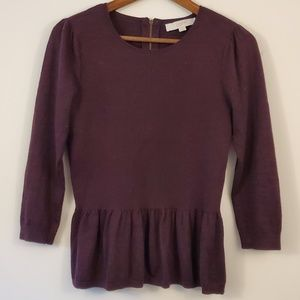 🌵Ann Taylor LOFT plum wool sweater size s